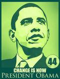 President Obama green poster